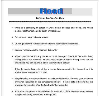 Flood Do's and Don'ts