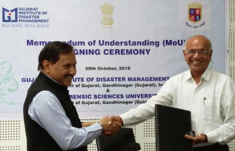 MoU Formalised Between GIDM And Gujarat Forensic Sciences University